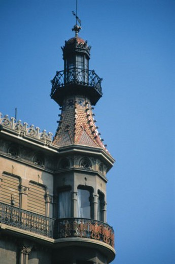 Barcelona, Cataluña, Spain, City, Town, Architecture, Architectural detail : Stock Photo