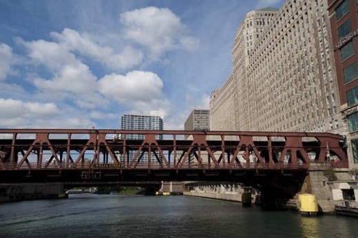 Bridge in Chicago : Stock Photo