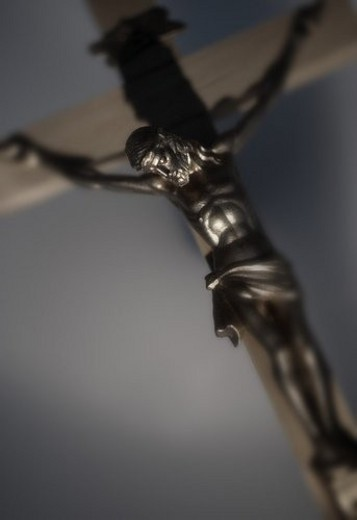 Statue of Jesus Christ on the cross : Stock Photo