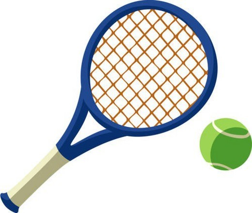 tennis racket, Leisure, ball, racket, tennis, tennis ball, icon : Stock Photo