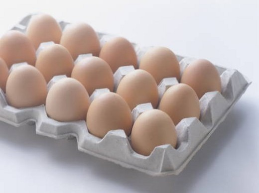 Eggs in carton : Stock Photo