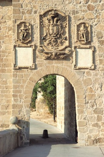 Stock Photo: 4029R-389825 Spain, Castilla la mancha, Toledo, City, Front, Wall, Window