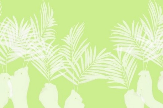 Stock Photo: 4029R-392808 Palm Sunday background