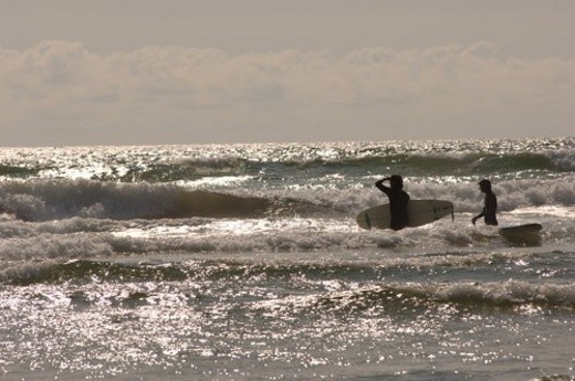 Surfers in Ocean : Stock Photo