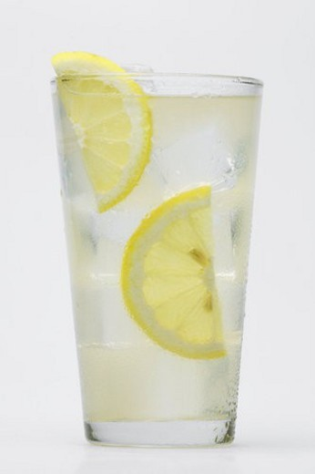 Stock Photo: 4029R-394391 Glass of lemonade