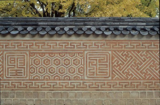tile capped wall, pattern, tile, wall, tradition, structure, design : Stock Photo