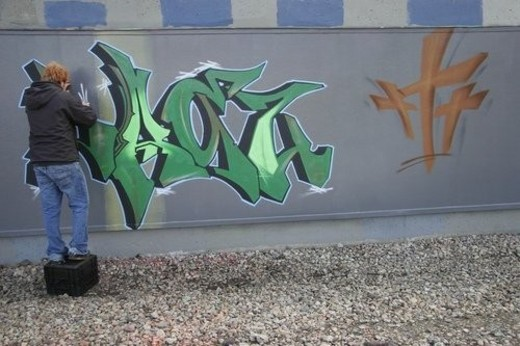 Graffiti artist : Stock Photo