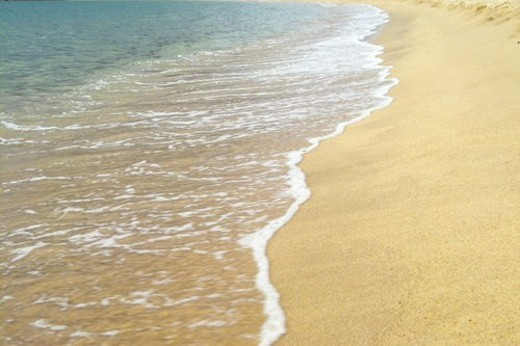 sea, sand, landscape, scenery, waves, natural : Stock Photo