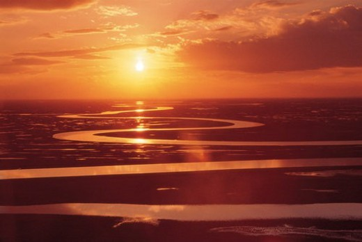 Sunset, Anhwei : Stock Photo