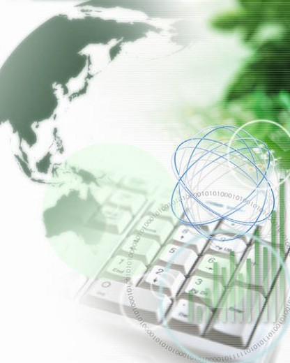 Stock Photo: 4029R-402202 Abstract illustration depicting global business technology