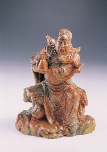 craft product, embellished, historical character, idol, ceramics, statue, craftsmanship : Stock Photo
