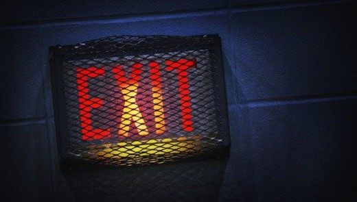 Stock Photo: 4029R-402844 An exit sign