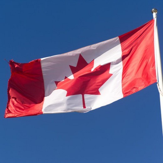 Canadian Flag Toronto Ontario Canada : Stock Photo