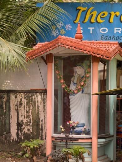 Stock Photo: 4029R-406921 Prayer area in Cochin, Kerala, India