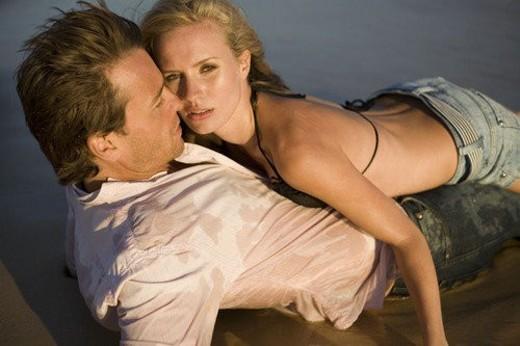Couple on beach : Stock Photo