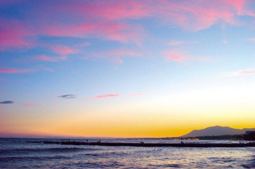 Stock Photo: 4029R-407477 Spain, Andalusia, Andalucia, Costa del sol, Marbella, Landscape, Cloud