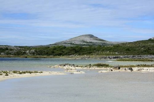 Co Clare, Ireland; Mullaghmore Mountain in the heart of the Burren : Stock Photo