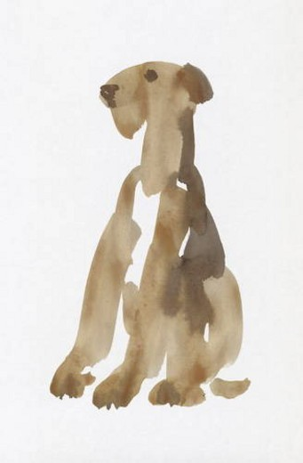Airedale Terrier, Water Color Painting : Stock Photo