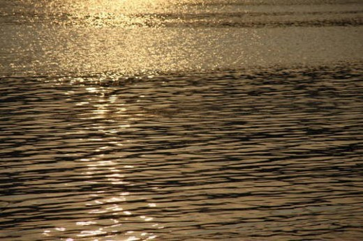 Water surface in the evening, sepia toned, full frame : Stock Photo