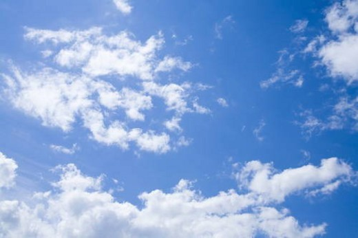 Clouds in blue sky : Stock Photo