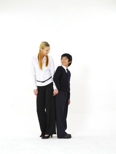 Stock Photo: 4029R-413938 School Uniform, Foreigner, Elementary school student, Elementary school students, Westerners, School Uniforms, Foreigners