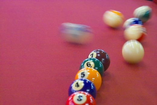 Stock Photo: 4029R-413949 ball, sports, billiards, billiard ball, game, pocket billiards, leisure