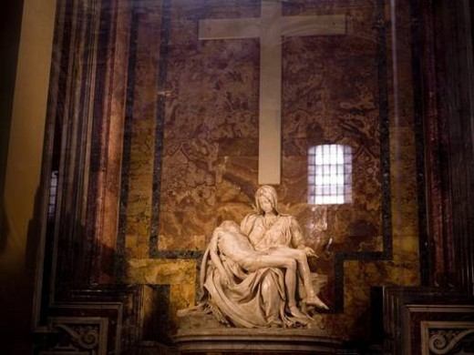 Stock Photo: 4029R-416776 Statues, The Vatican, Rome, Italy