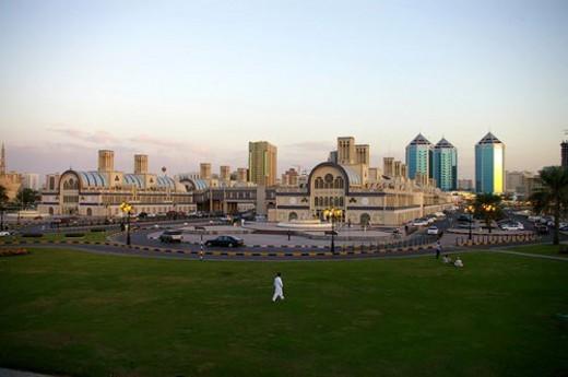 Stock Photo: 4029R-418318 Country, sharjah, UAE, Arabic
