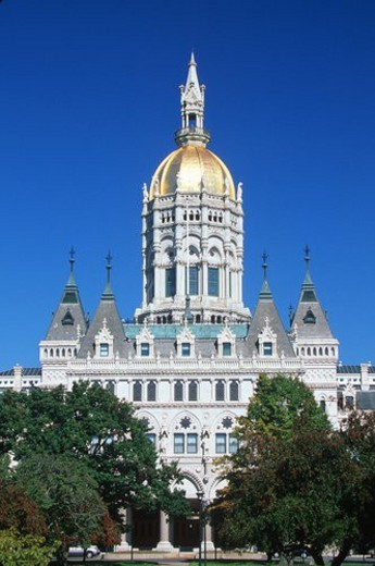 Stock Photo: 4029R-422076 State Capitol of Connecticut, Hartford