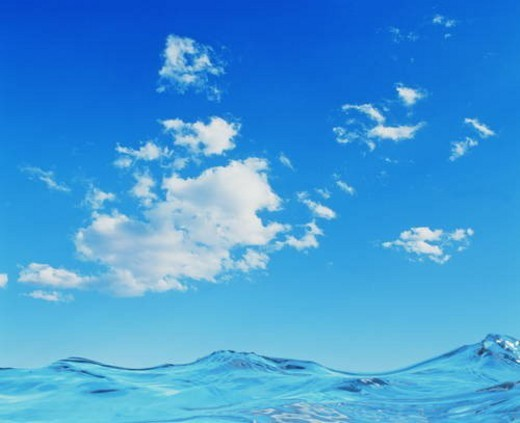 Clouds and water : Stock Photo