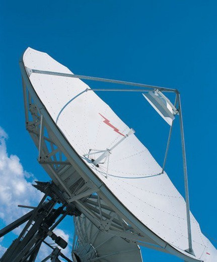 Stock Photo: 4029R-423796 Satellite, Today s Communication, One Object