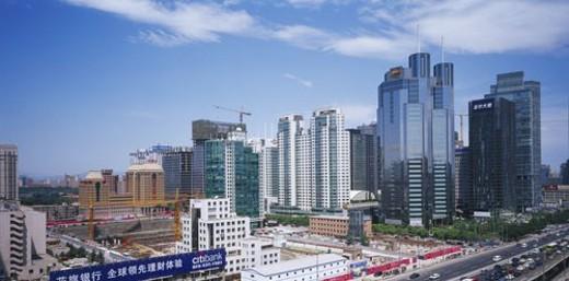 Scene of skyscrapers in CBD, Beijing : Stock Photo