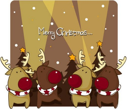 deer, seasons, animal, holiday, winter, rudolph, christmas : Stock Photo
