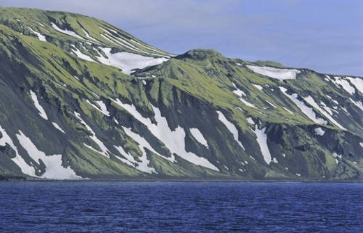 Stock Photo: 4029R-427699 Bay BÂtvika. Jan Mayen, North Atlantic Island, Norway.