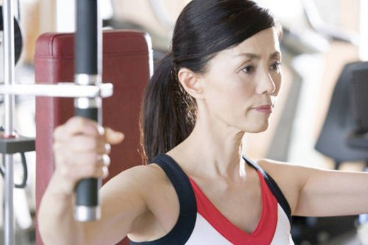 Stock Photo: 4029R-428320 Japanese Woman, Fitness Club