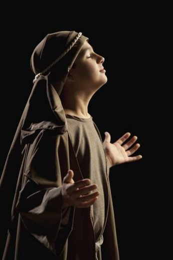 Stock Photo: 4029R-428597 boy depicting a young jesus