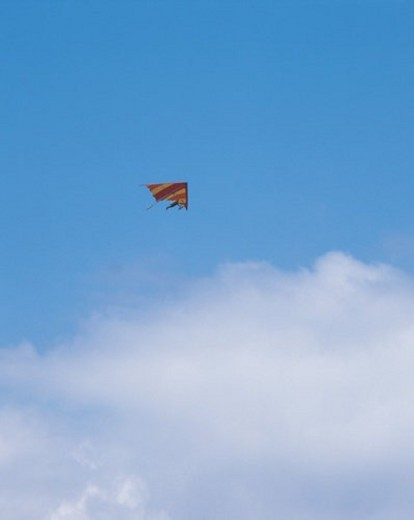 cloud, hang-glider, sky, landscape, nature, scenery, leisure : Stock Photo