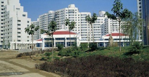 Stock Photo: 4029R-432637 Village Head building in Asian Games Village