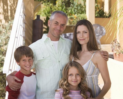 Stock Photo: 4029R-434379 Portrait of a family