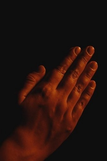 Prayerful hands : Stock Photo