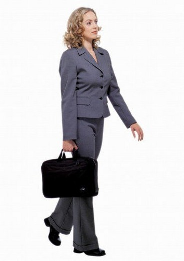Stock Photo: 4029R-438266 human cut outs, one person, white background, well-dressed
