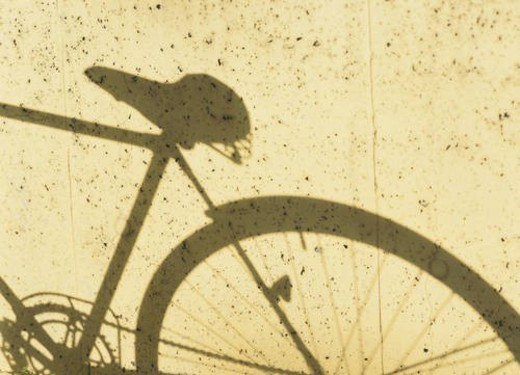 Shadow of a bicycle : Stock Photo