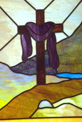 Church Stained Glass window : Stock Photo