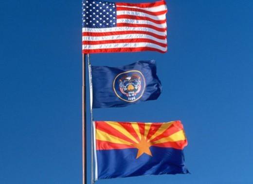 State Flag of Arizona : Stock Photo
