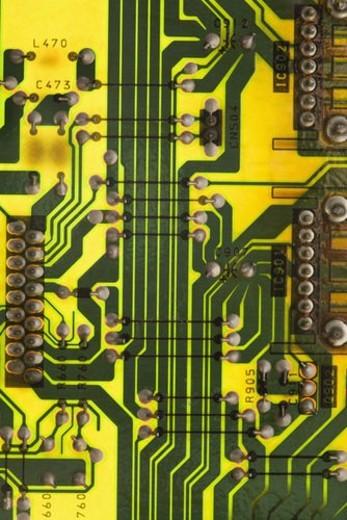 Circuit board detail. : Stock Photo