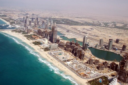 Stock Photo: 4029R-445054 dubai, aerial, dubai, marina, port, plaisance, towers