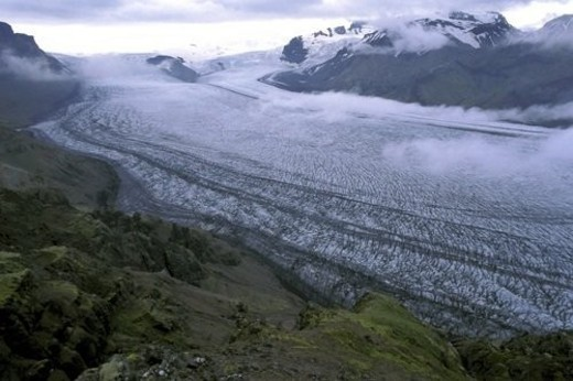 Stock Photo: 4029R-445808 Glacier, trip, Snow, Ice, Landscape, Hazy, Adventure