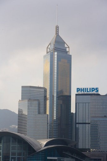 Stock Photo: 4029R-44673 Skyscrapers, Hong Kong