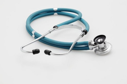 Stock Photo: 4029R-46158 Single stethoscope