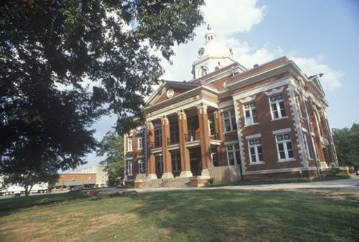 Stock Photo: 4029R-46244 County courthouse, Eatonton, GA